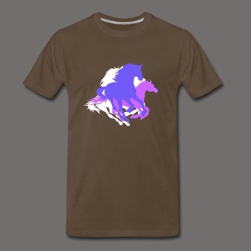 Purple Horses - Men's Premium T-Shirt