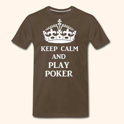 keep calm play poker wht - Men's Premium T-Shirt