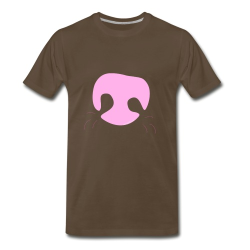 Pink Whimsical Dog Nose - Men's Premium T-Shirt
