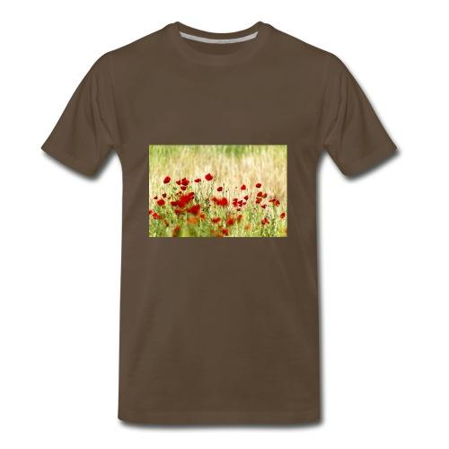 Iranian Poppies - Men's Premium T-Shirt