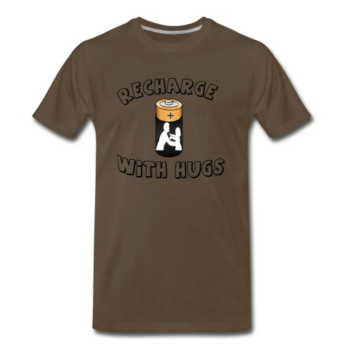 Recharge with hugs - Men's Premium T-Shirt