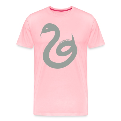 Not Literally Slytherin Logo Large - Men's Premium T-Shirt
