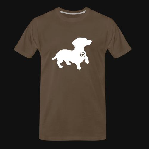 Dachshund silhouette white - Men's Premium T-Shirt