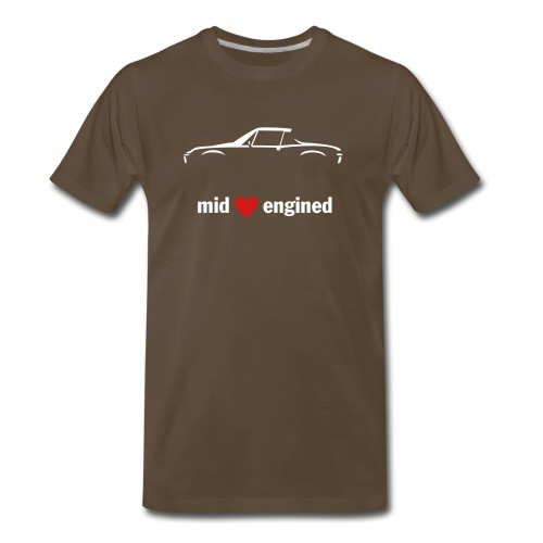 Mid Engined Sportscar for dark colored shirts - Men's Premium T-Shirt