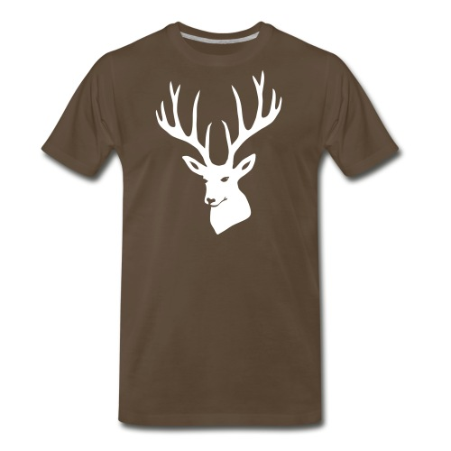 stag night deer buck antler hart cervine elk - Men's Premium T-Shirt
