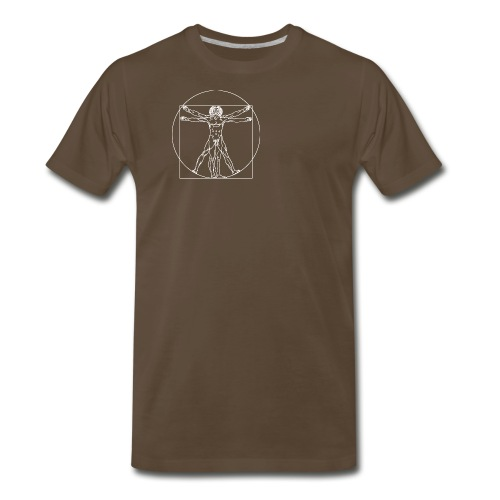 Vitruvian Man (da Vinci) - Men's Premium T-Shirt