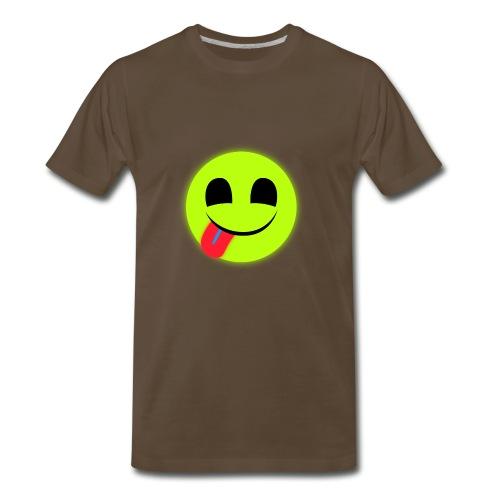 Glowing Emoticon - Men's Premium T-Shirt