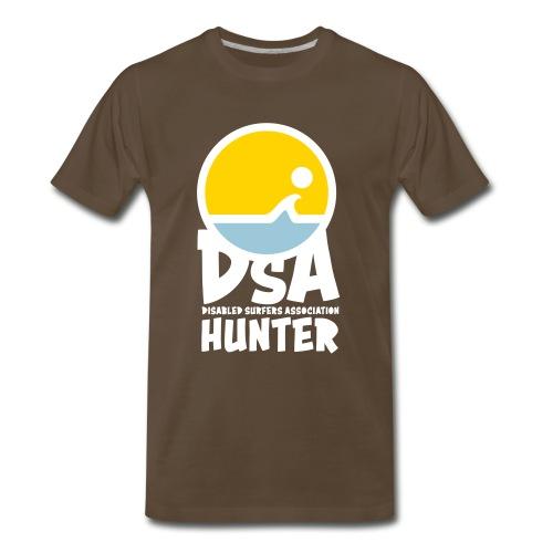 Disabled Surfers Association Hunter - Light Logo - Men's Premium T-Shirt