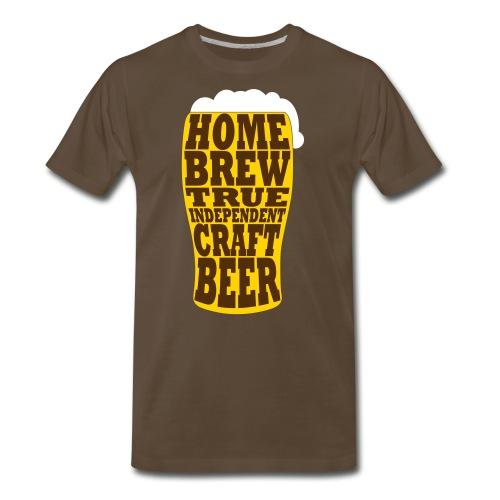 Home Brew True Indie. Beer Glass - Colour - Men's Premium T-Shirt