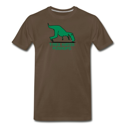 T-Rex Hates Pushups - Men's Premium T-Shirt