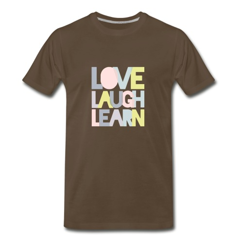 Love laugh learn - Men's Premium T-Shirt