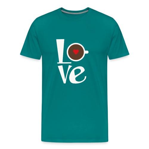 Love Coffee - Men's Premium T-Shirt