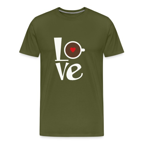 Love Coffee - Men's Premium T-Shirt