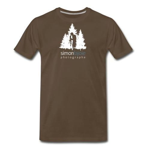 Logo Simon Lajoie Photographer White - Men's Premium T-Shirt