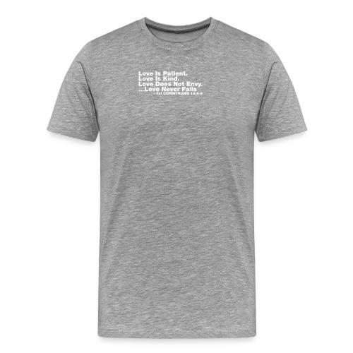 Love Bible Verse - Men's Premium T-Shirt