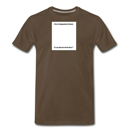 Companion Person to my Special Needs Dog - Men's Premium T-Shirt