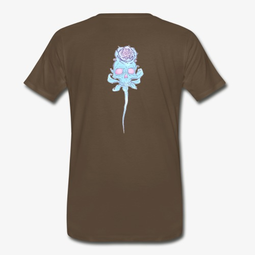 Skull rose plain - Men's Premium T-Shirt