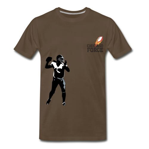 QB vector - Men's Premium T-Shirt