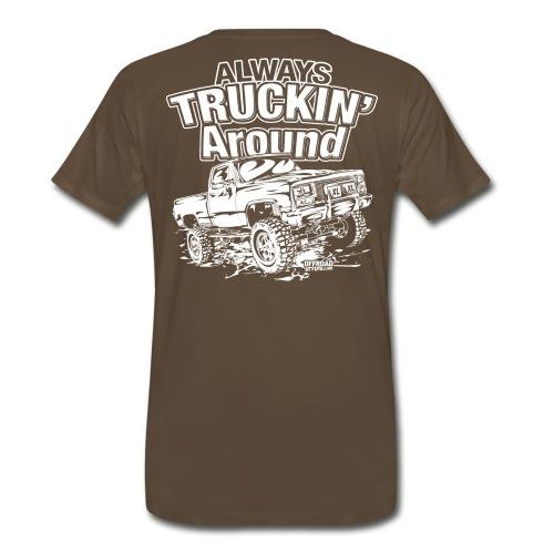 Truckin Around White - Men's Premium T-Shirt