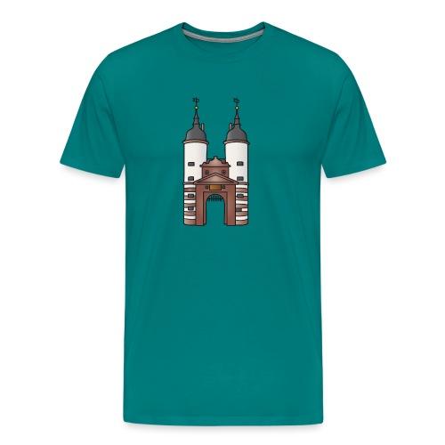 Bridge gate Heidelberg, FRG - Men's Premium T-Shirt