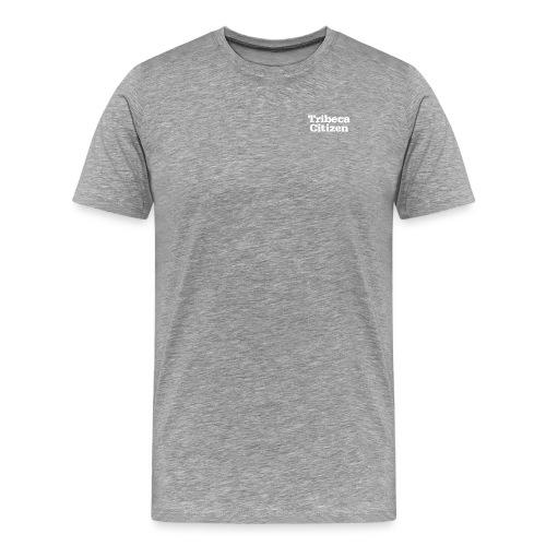 tribeca citizen stacked logo in white - Men's Premium T-Shirt