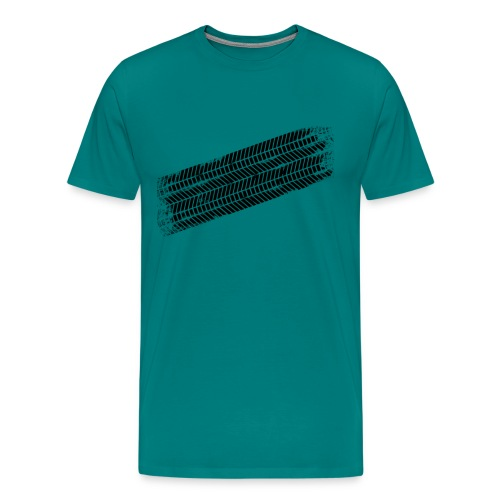 tyre track - Men's Premium T-Shirt