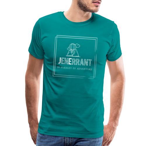 White JenErrant Logo-No Background! - Men's Premium T-Shirt