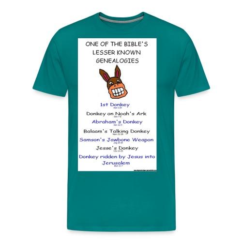 donkey genealogy tshirt - Men's Premium T-Shirt