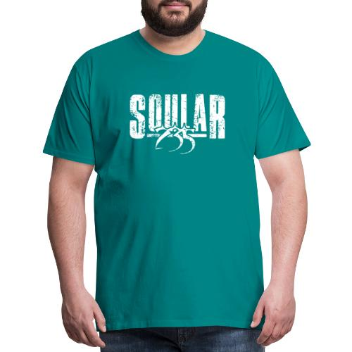 Soular235 White Logo - Men's Premium T-Shirt