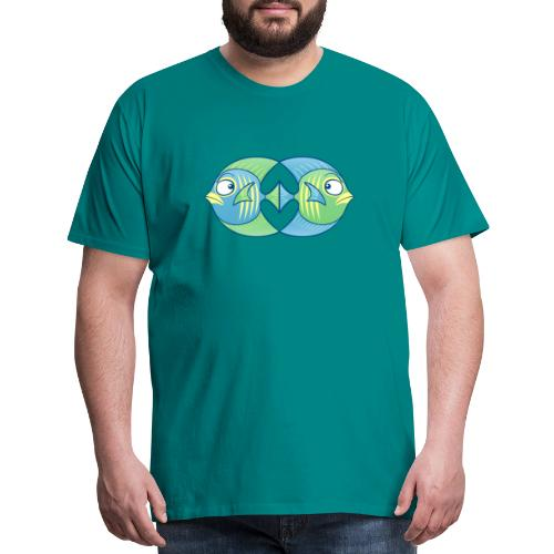 Tropical fishes remain in love despite conflicts - Men's Premium T-Shirt