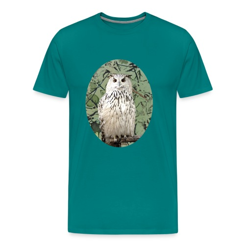 awesome cute snowy owl gift bird lovers - Men's Premium T-Shirt