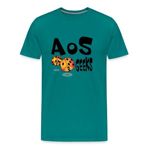 AOS Geeks NOIR - T-shirt premium pour hommes