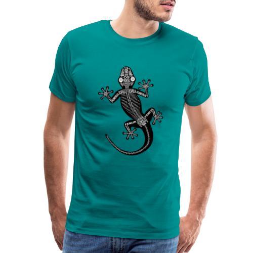 Skeleton Gecko - Men's Premium T-Shirt