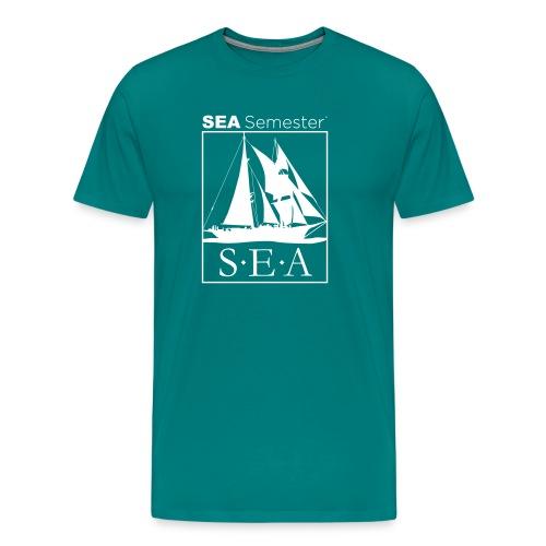 SEA_logo_WHITE_eps - Men's Premium T-Shirt