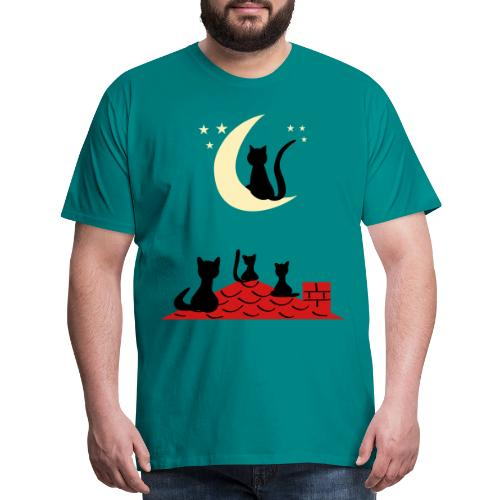 Cats on the roof - Men's Premium T-Shirt