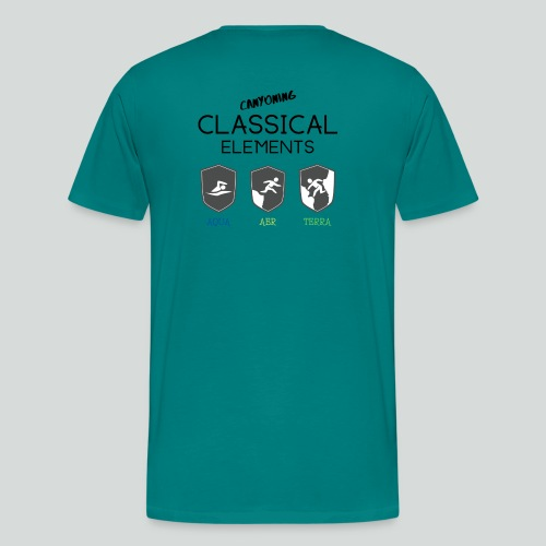 CLASSICAL ELEMENTS-on light back-2 side- all badge - Men's Premium T-Shirt