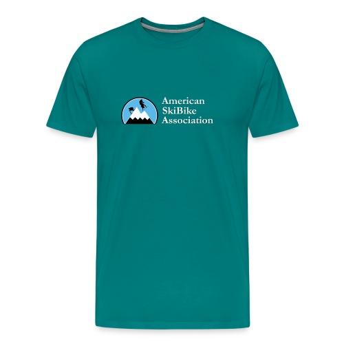 ASA - Logo- Winter Scene - Men's Premium T-Shirt