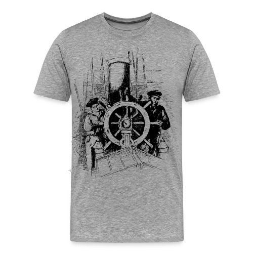 sailors at the helm - Men's Premium T-Shirt