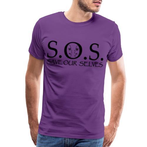 SOS Black on Black - Men's Premium T-Shirt
