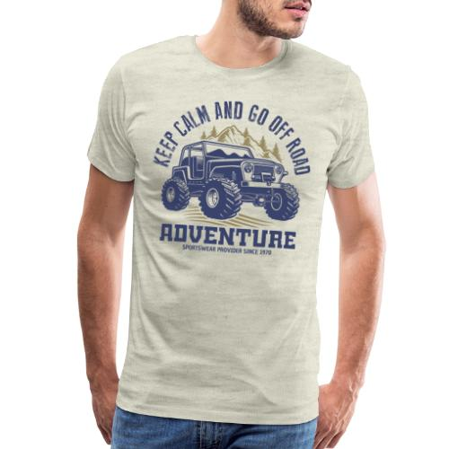 off road adventure nature - Men's Premium T-Shirt