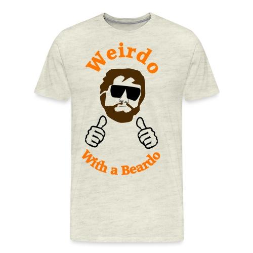 Weirdo With a Beardo - Men's Premium T-Shirt