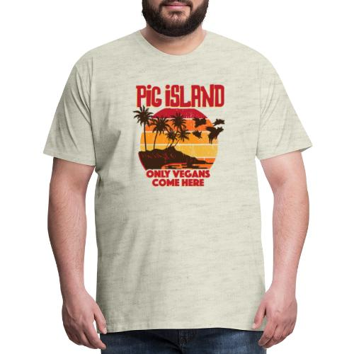 Welcome to Pig Island - Men's Premium T-Shirt
