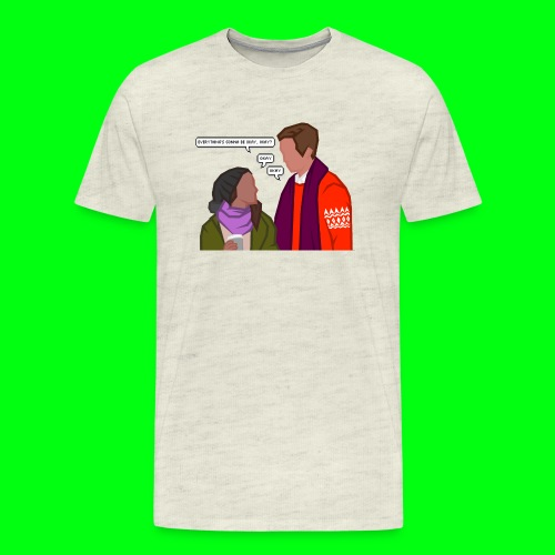 Paul and Emma (with text) - Starkid's Black Friday - Men's Premium T-Shirt