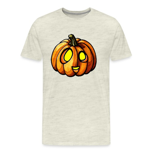 Pumpkin Halloween watercolor scribblesirii - Men's Premium T-Shirt