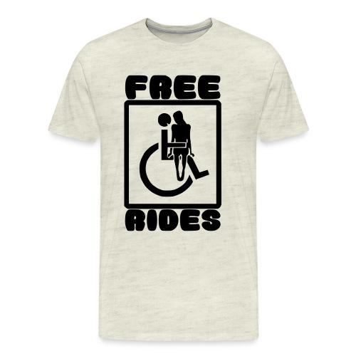 Free rides, wheelchair humor - Men's Premium T-Shirt