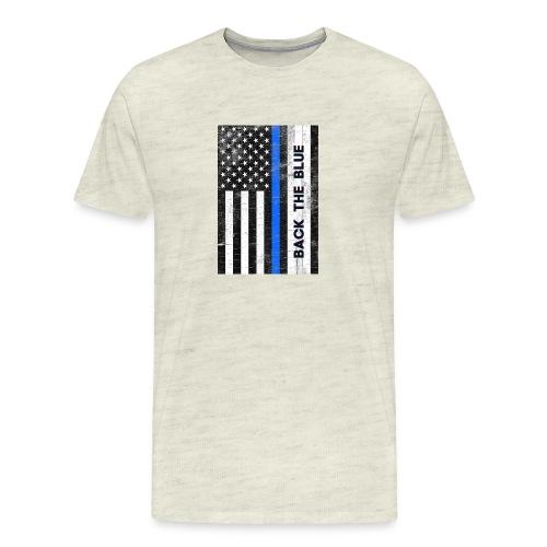 BACK THE Blue Police Officer USA - Men's Premium T-Shirt