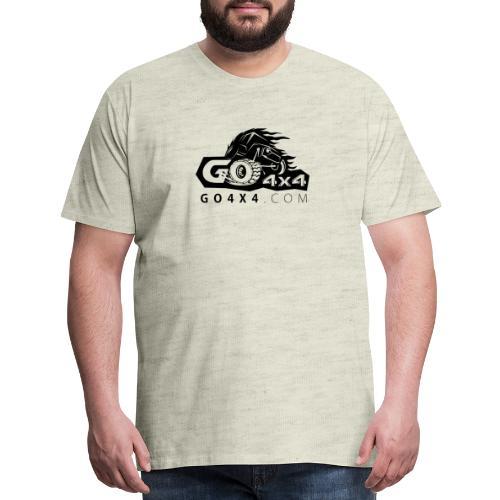 go bw white text black - Men's Premium T-Shirt