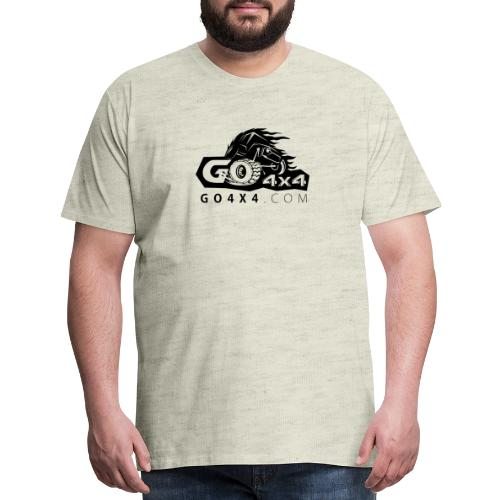 go bw white text black - Men's Premium T-Shirt