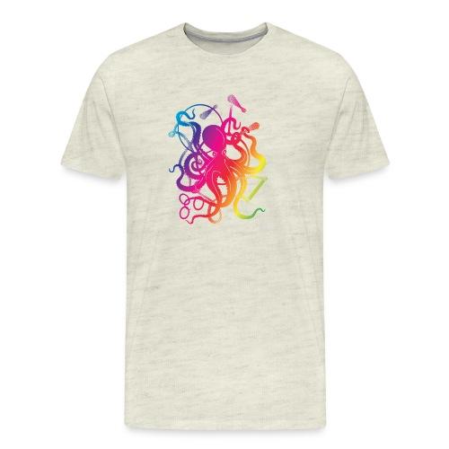 Rainbow Circus Octopus - Men's Premium T-Shirt