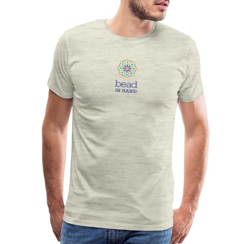 Bead In Hand Logo with tag line - Men's Premium T-Shirt